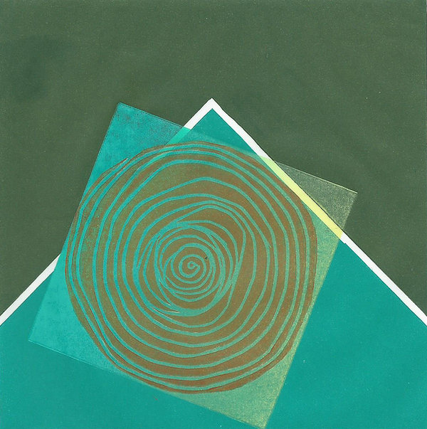 Frances Bray - Khaki Spool Linoprint  15