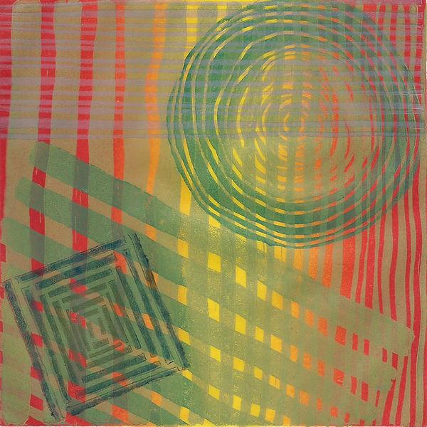 Frances Bray - Basketry Linoprint  15 x1