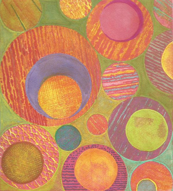 Frances Bray - Hippy Shake Collograph wi