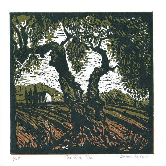 Sharon Pallent - The Olive Tree - Linocut