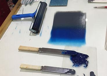 Hazelnut Press Ink and Roller