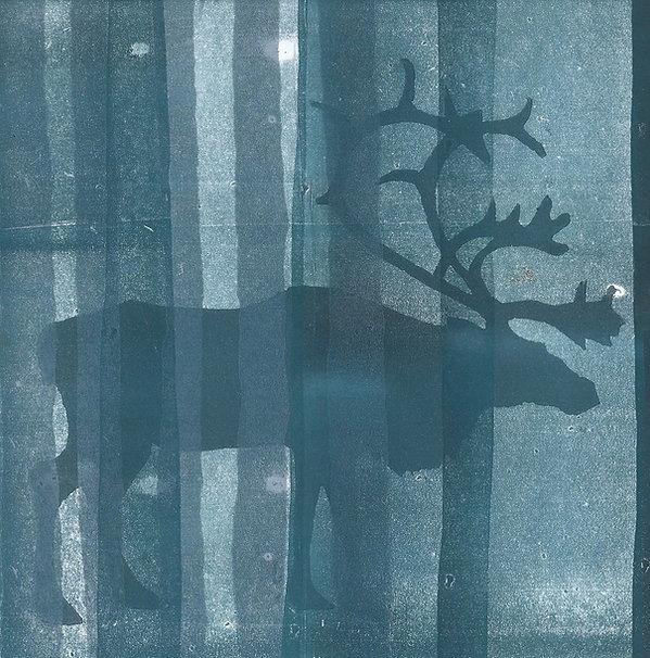 Frances Bray - Nordic Night Linoprint 15