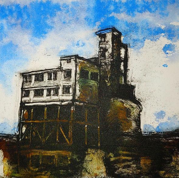 Sharon Pallent - Grain Fort - Etching