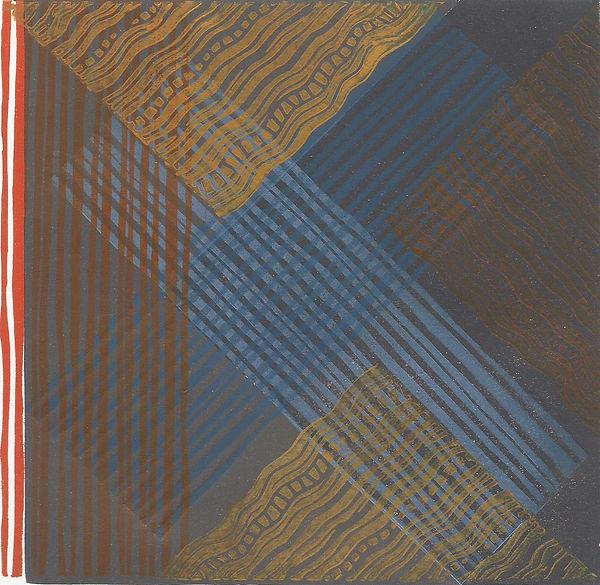 Frances Bray - Dark Weave Linoprint  15