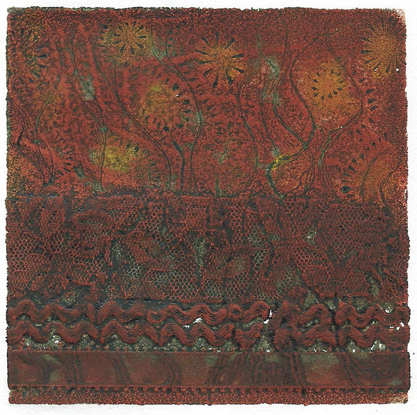 Frances Bray - Lace Embers Collograph 15