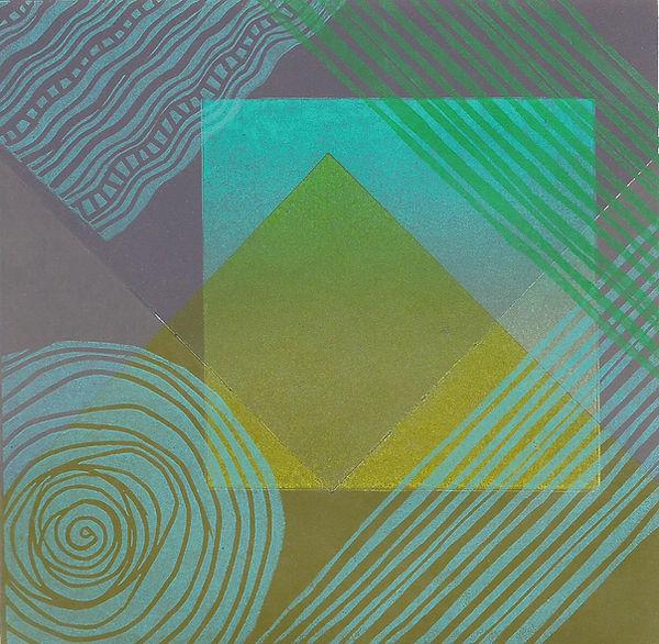 Frances Bray - Blue Threads Linoprint  1