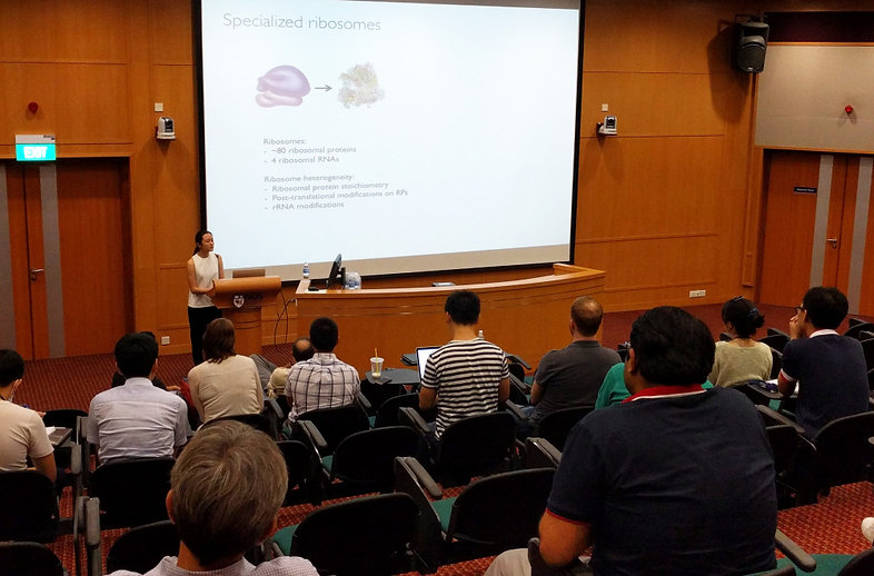 Jie Min Presents at the inaugural Singapore RNA Biology Alliance meeting