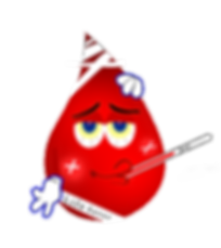 Blood drop cartoon