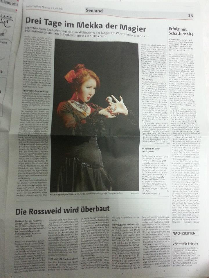 Swiss newspaper in 2013