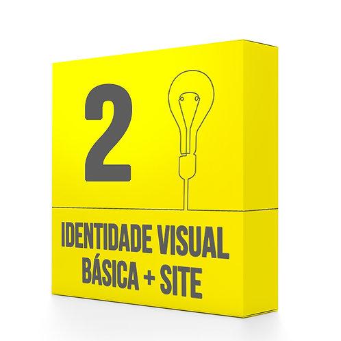 Pacote 2: IDENTIDADE VISUAL BÁSICA + SITE