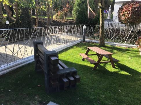 Zaun aus Rundstahl