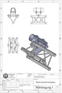 3D Zeichnung Abhängung