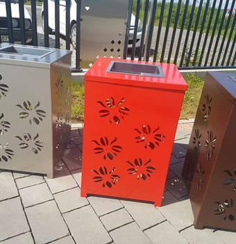 Müllbehälter gelasert
