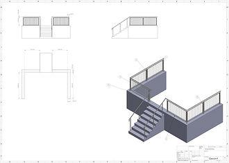 3D Zeichnung Geländer