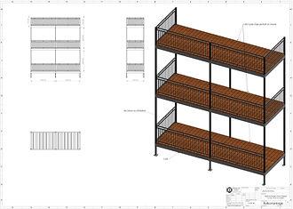 3D Zeichnung Balkon