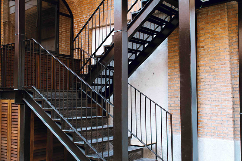 Stahltreppe im Industrie-Look
