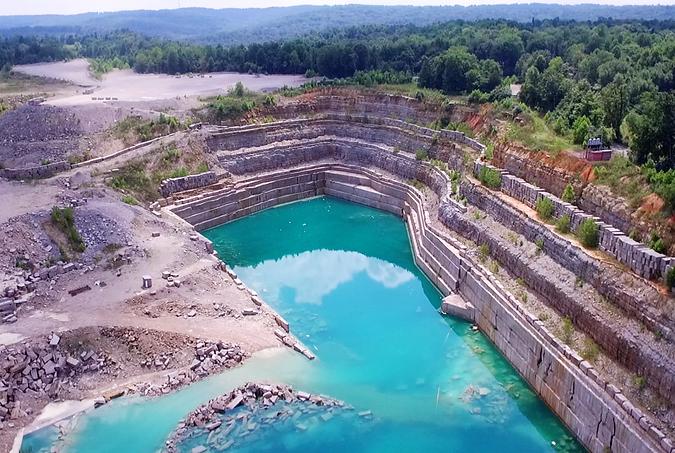 Victor Stone Quarry Drone Photo