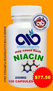 NIACIN- 250mg 100 capsules $1.29 PER CAPSULES