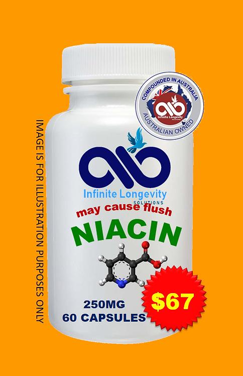 NIACIN 250 MG 60 capsules $1.11 PER CAPSULE