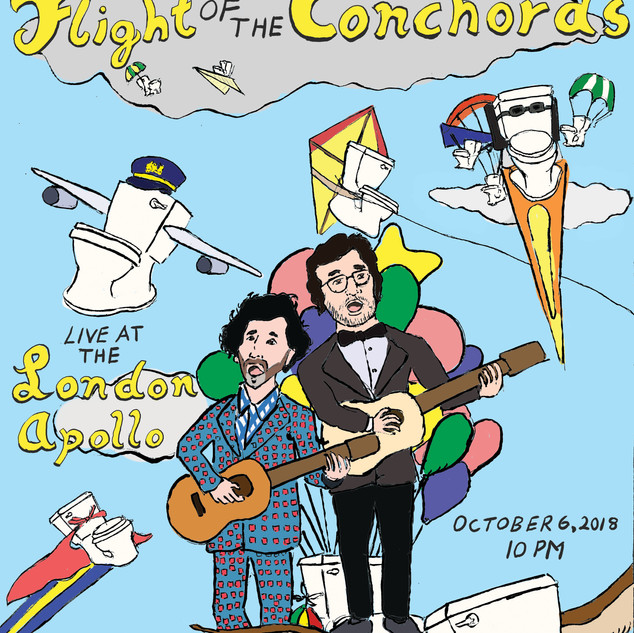 Flight of The Conchords Concert Poster