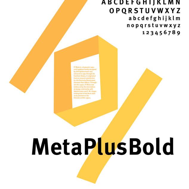 MetaPlusBold Poster.