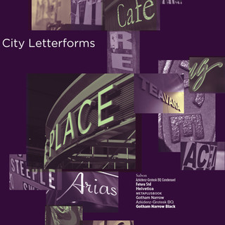 City Letterforms Poster