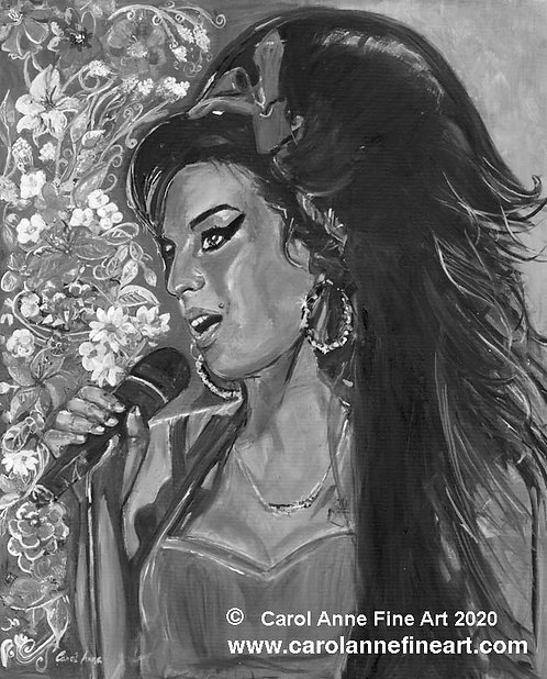 AMY WINEHOUSE (black & white)