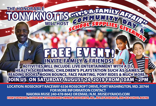 Tony Knotts Aug 24 2019 Community Day an