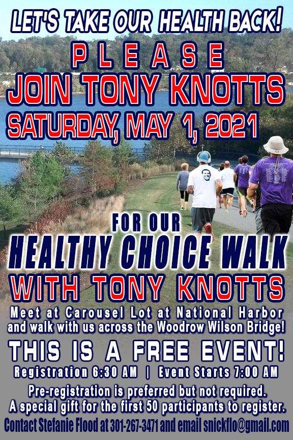 Tony Knotts Healthy Choice Walk Event Ma