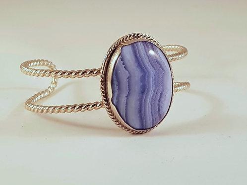 Blue Lace Agate Cuff