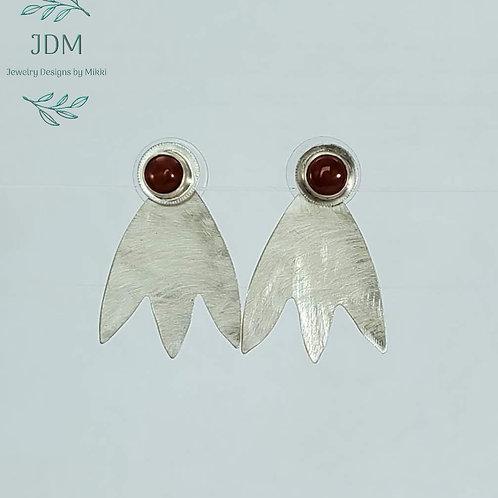 Carnelian Jacket Earrings
