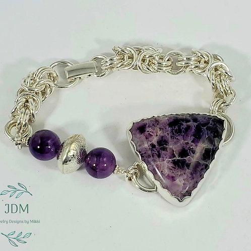 Lace Amethyst Byzantine Bracelet