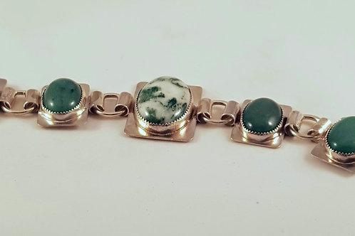 Aventurine & Moss Agate Bracelet