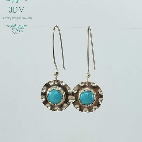 Turquoise Scallop Earrings
