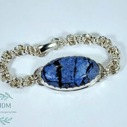 Dumortierite Chain Maille Bracelet