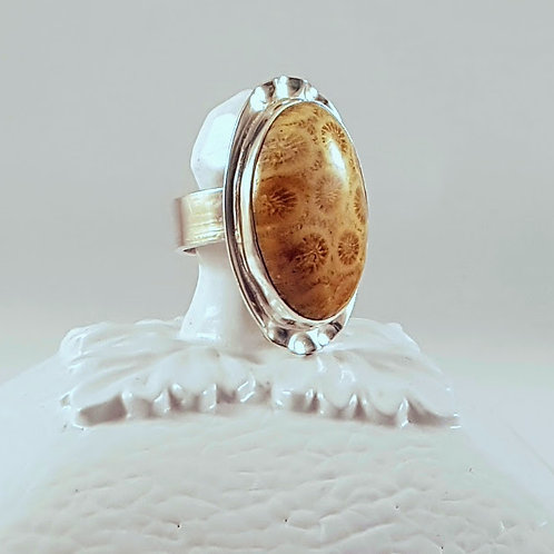 Fossilized Coral Ring