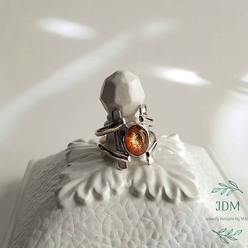 Sunstone Wired Ring