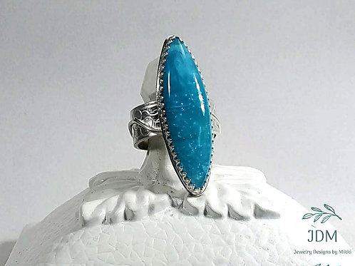 Smithsonite Marquise Ring