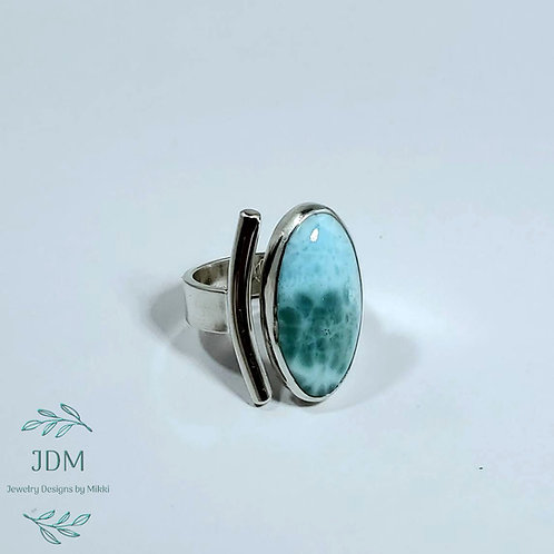 Larimar Adjustable Ring