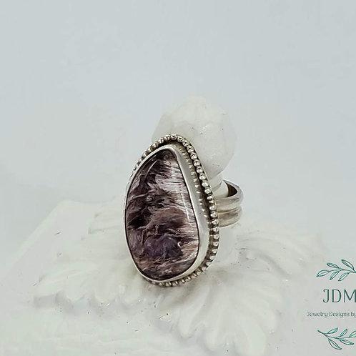 Charoite Beaded Ring