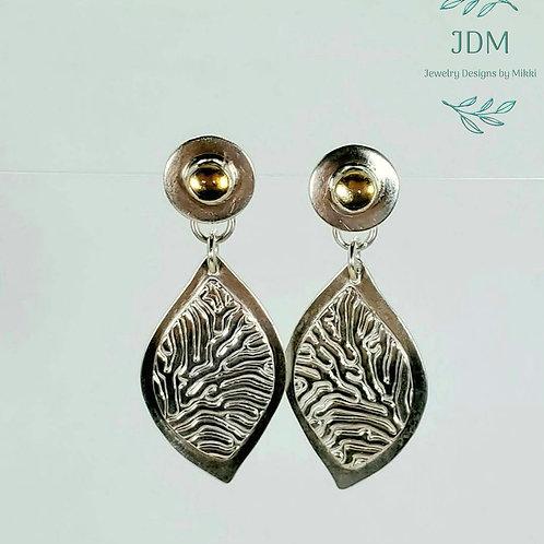 Citrine Leaf Earrings