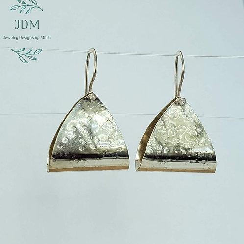 Folded Triangle Earrings