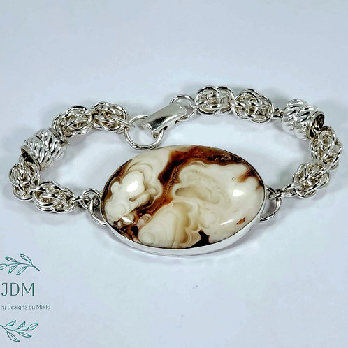 Kokoweef Cave Onyx Chain Maille Bracelet