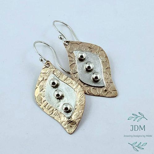 Gold & Silver Freeform Earrings