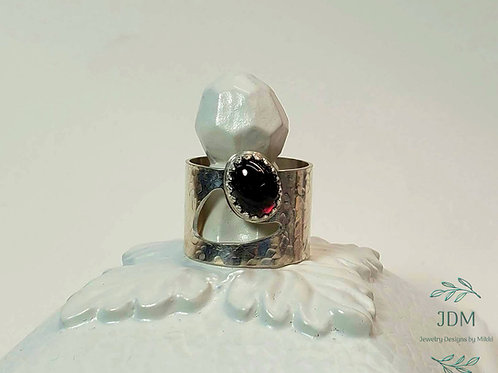 Garnet Oval Ring