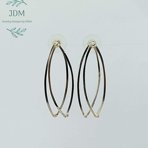 Elongated Oval Earrings