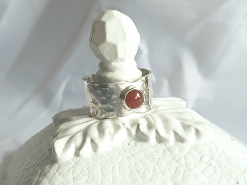 Wide Shank Carnelian Ring