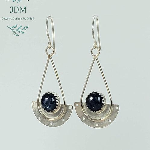 Kyanite Half Circle Earrings