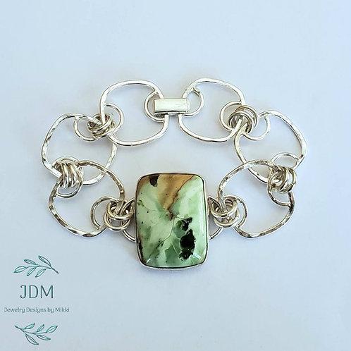 Chrome Chalcedony Link Bracelet