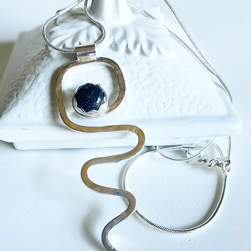 Lapus Lazuli Wire Necklace
